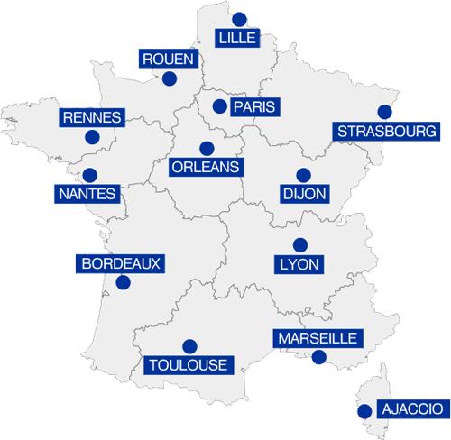 Decouvrez La Carte Des Prefectures Des 13 Nouvelles Regions Reforme Laseyne Info