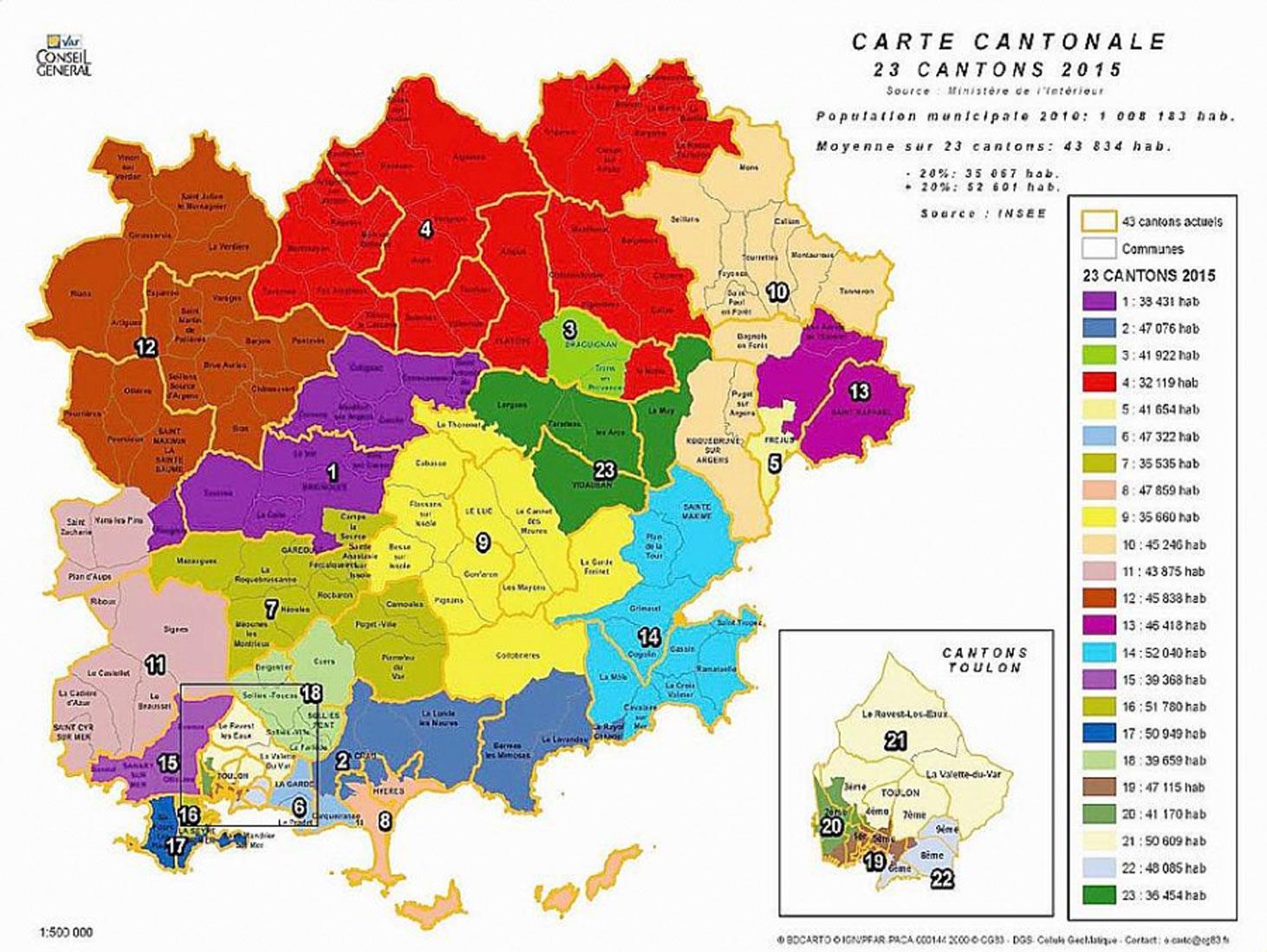 Tollé général pour le Redécoupage cantonal du Var    LaSeyne.Info